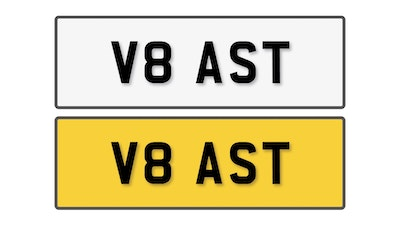 NO RESERVE! - Private Reg Plate - V8 AST