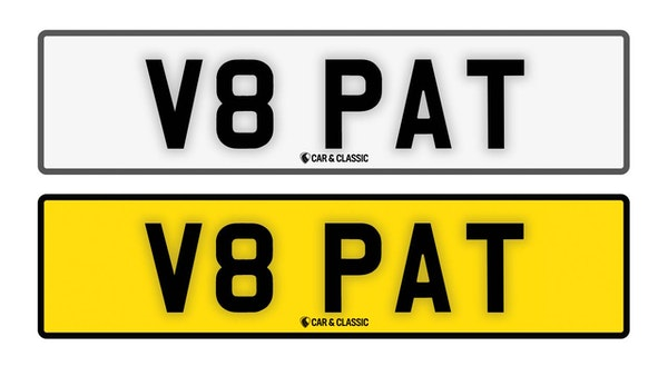 Private Reg Plate - V8 PAT For Sale (picture 1 of 3)