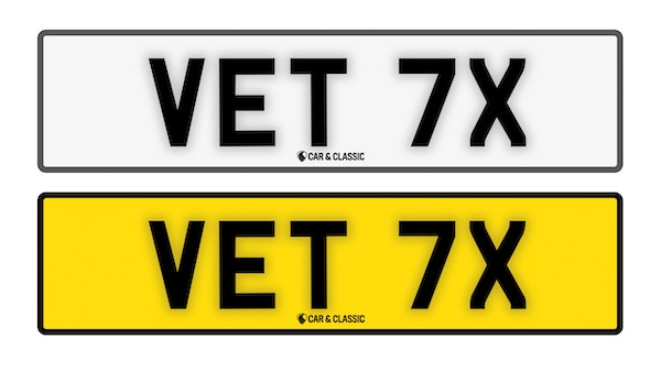 Private Reg Plate - VET 7X For Sale (picture 1 of 3)