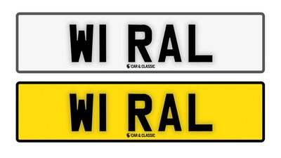 Private Reg Plate- W1 RAL