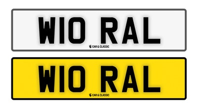 Private Reg Plate - W10 RAL