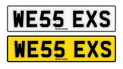 Private Reg Plate - WE55 EXS