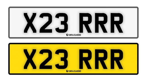 Private Reg Plate - X23 RRR For Sale (picture 1 of 3)