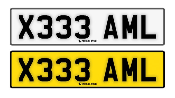 Private Reg Plate - X333 AML For Sale (picture 1 of 3)