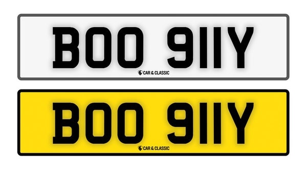 Private Reg Plate - BOO 911Y For Sale (picture 1 of 3)