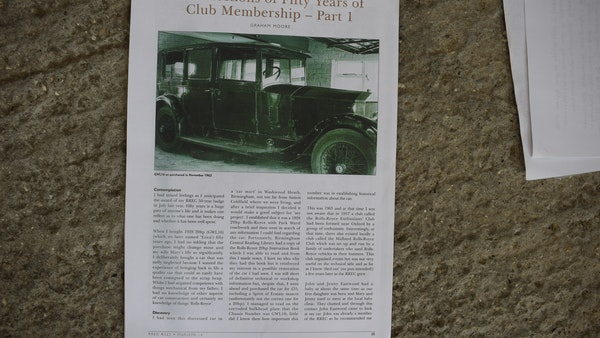 RESERVE LOWERED - 1928 Rolls Royce 20HP Limousine by Park Ward For Sale (picture 85 of 103)