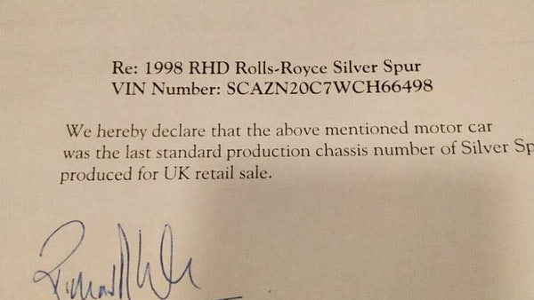 RESERVE LOWERED! - 1998 Rolls Royce Silver Spur For Sale (picture 113 of 113)