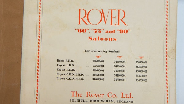 RESERVE LOWERED - 1955 Rover 75 P4 For Sale (picture 143 of 146)
