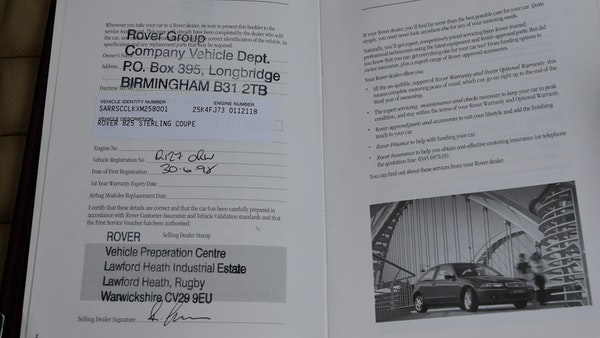 1998 Rover 825i Sterling Coupe For Sale (picture 137 of 152)