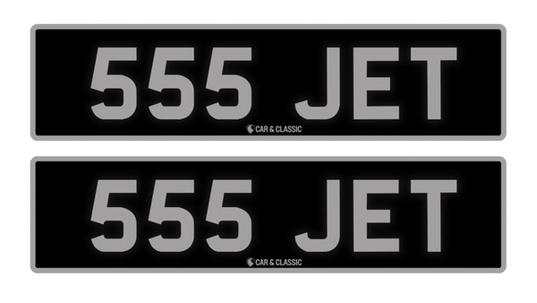 RESERVE LOWERED - Private Reg Plate - 555 JET For Sale (picture 1 of 3)