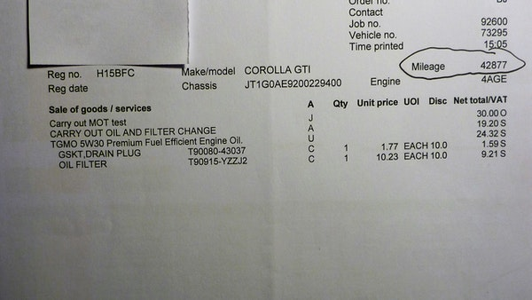 1991 Toyota Corolla GTi 16V For Sale (picture 92 of 103)
