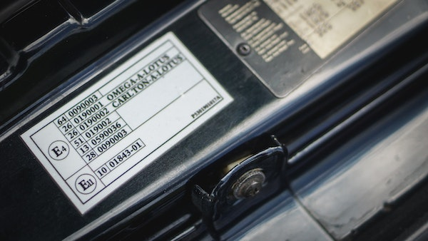 1993 Vauxhall Lotus Carlton For Sale (picture 109 of 179)