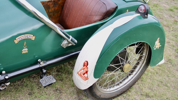 1949 Vincent White Shadow & Swallow Jet Sidecar For Sale (picture 20 of 60)
