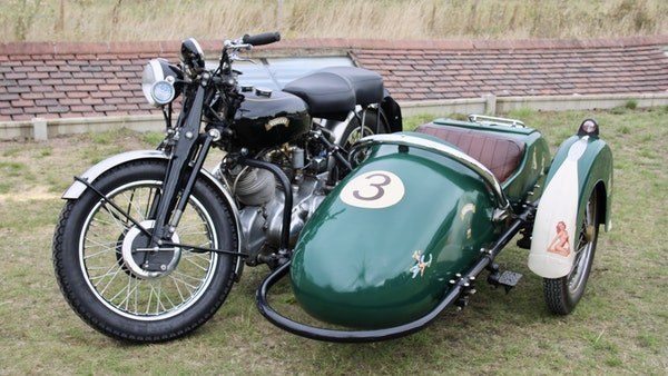 1949 Vincent White Shadow & Swallow Jet Sidecar For Sale (picture 9 of 60)