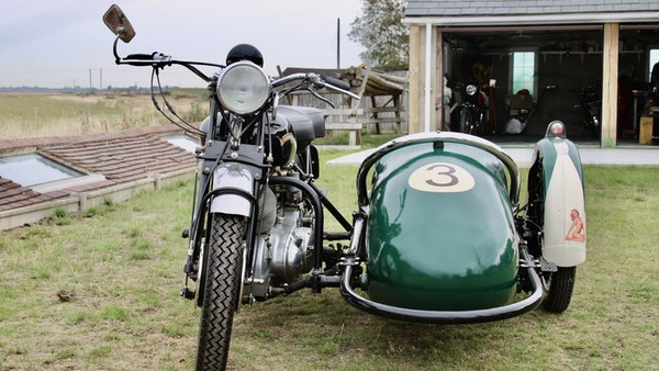 1949 Vincent White Shadow & Swallow Jet Sidecar For Sale (picture 4 of 60)