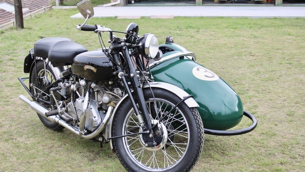 1949 Vincent White Shadow & Swallow Jet Sidecar For Sale (picture 8 of 60)