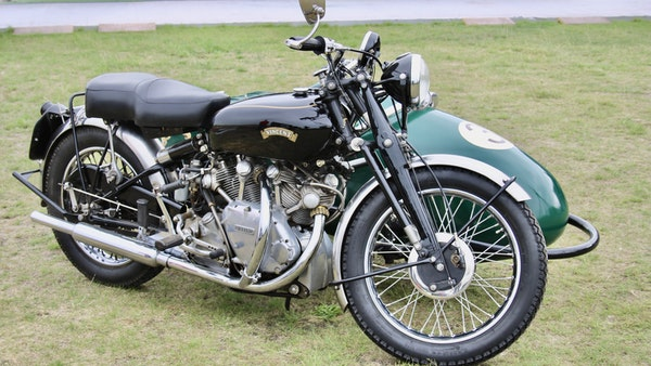 1949 Vincent White Shadow & Swallow Jet Sidecar For Sale (picture 7 of 60)