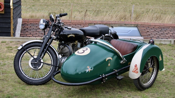 1949 Vincent White Shadow & Swallow Jet Sidecar For Sale (picture 12 of 60)