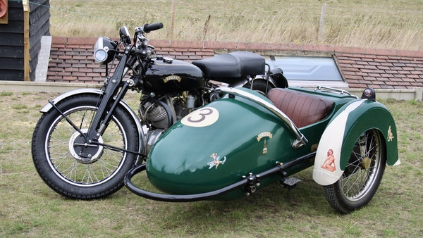 1949 Vincent White Shadow & Swallow Jet Sidecar For Sale (picture 17 of 60)
