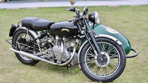 1949 Vincent White Shadow & Swallow Jet Sidecar For Sale (picture 5 of 60)