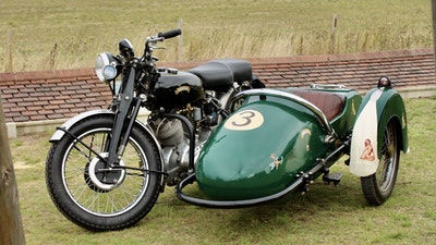 1949 Vincent White Shadow & Swallow Jet Sidecar