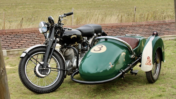 1949 Vincent White Shadow & Swallow Jet Sidecar For Sale (picture 1 of 60)