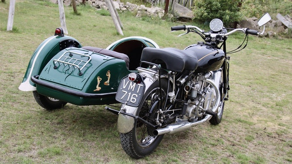 1949 Vincent White Shadow & Swallow Jet Sidecar For Sale (picture 14 of 60)