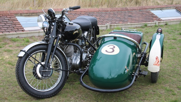 1949 Vincent White Shadow & Swallow Jet Sidecar For Sale (picture 16 of 60)