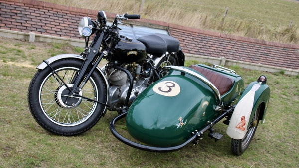 1949 Vincent White Shadow & Swallow Jet Sidecar For Sale (picture 10 of 60)