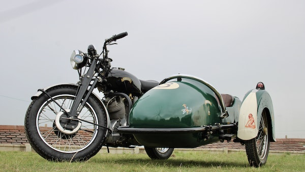 1949 Vincent White Shadow & Swallow Jet Sidecar For Sale (picture 15 of 60)