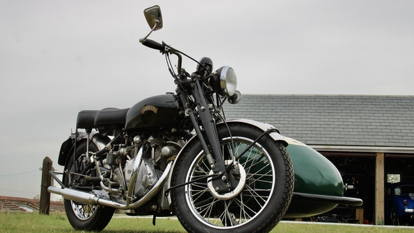 1949 Vincent White Shadow & Swallow Jet Sidecar For Sale (picture 6 of 60)
