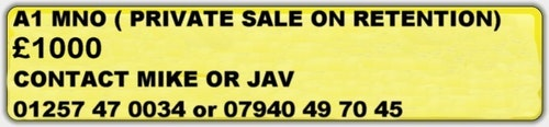 Picture of 0000 Private Number Plate Registration A1M NO For Sale