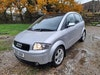 rare version of the Audi A2  1.4tdi 5 speed manual