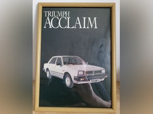 1967 Original 1982 Triumph Acclaim Framed Advert For Sale (picture 1 of 3)