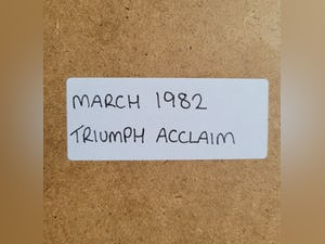 1967 Original 1982 Triumph Acclaim Framed Advert For Sale (picture 2 of 3)