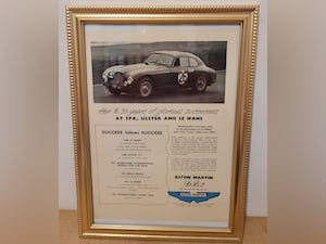 Original 1951 Aston Martin DB2 Framed Advert For Sale (picture 1 of 3)