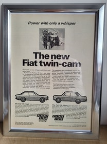 Picture of 1967 Original 1968 Fiat Framed Advert For Sale