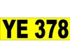 YE 378 Registration Plate Suit Early Vehicle.