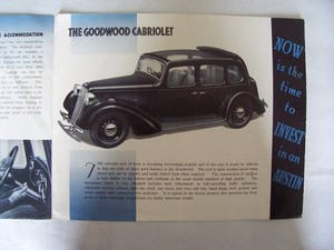 AUSTIN FOURTEEN GOODWOOD 1936 SALES BROCHURE For Sale (picture 3 of 6)
