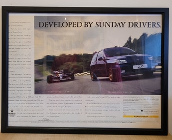 Picture of 1976 Original 1993 Renault Clio Williams Framed Advert For Sale