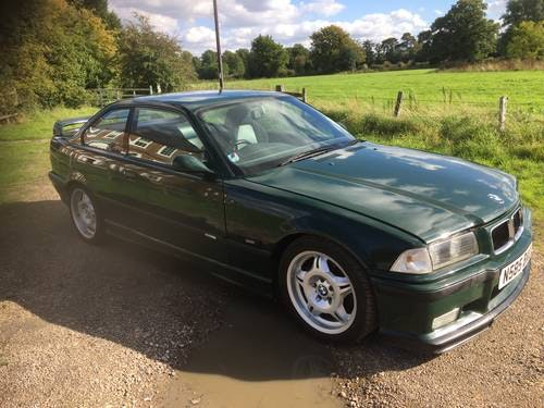 1995 E36 M3 GT S50 - Individual - British racing green -  50 RHD For Sale (picture 1 of 6)