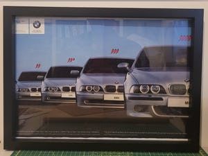 1973 Original 2001 BMW 5 Series Framed Advert For Sale (picture 1 of 3)