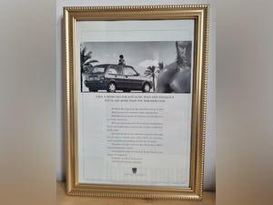 1953 Original 1994 Rover Metro Framed Advert For Sale (picture 1 of 3)