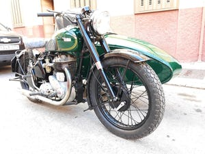 1954 BSA M21  600cc. with BSA sidecar - UK plates. For Sale (picture 2 of 6)