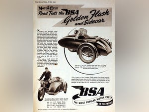 1954 BSA M21  600cc. with BSA sidecar - UK plates. For Sale (picture 6 of 6)