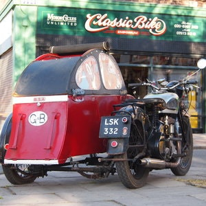 Picture of 1939 BSA M20 Outfit In Beautiful Oily Rag Working Condition. For Sale