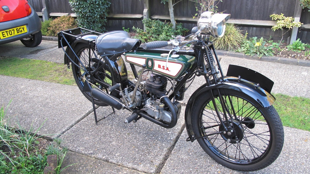 1928 B.S.A Motorbike SOLD (picture 1 of 6)