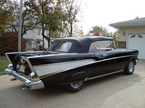 1957 Chevrolet Bel Air Convertible Black For Sale (picture 2 of 6)