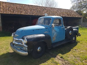 1954 Chevy 3100 5 Window Deluxe Cab HYDRA-MATIC short bed For Sale (picture 2 of 7)