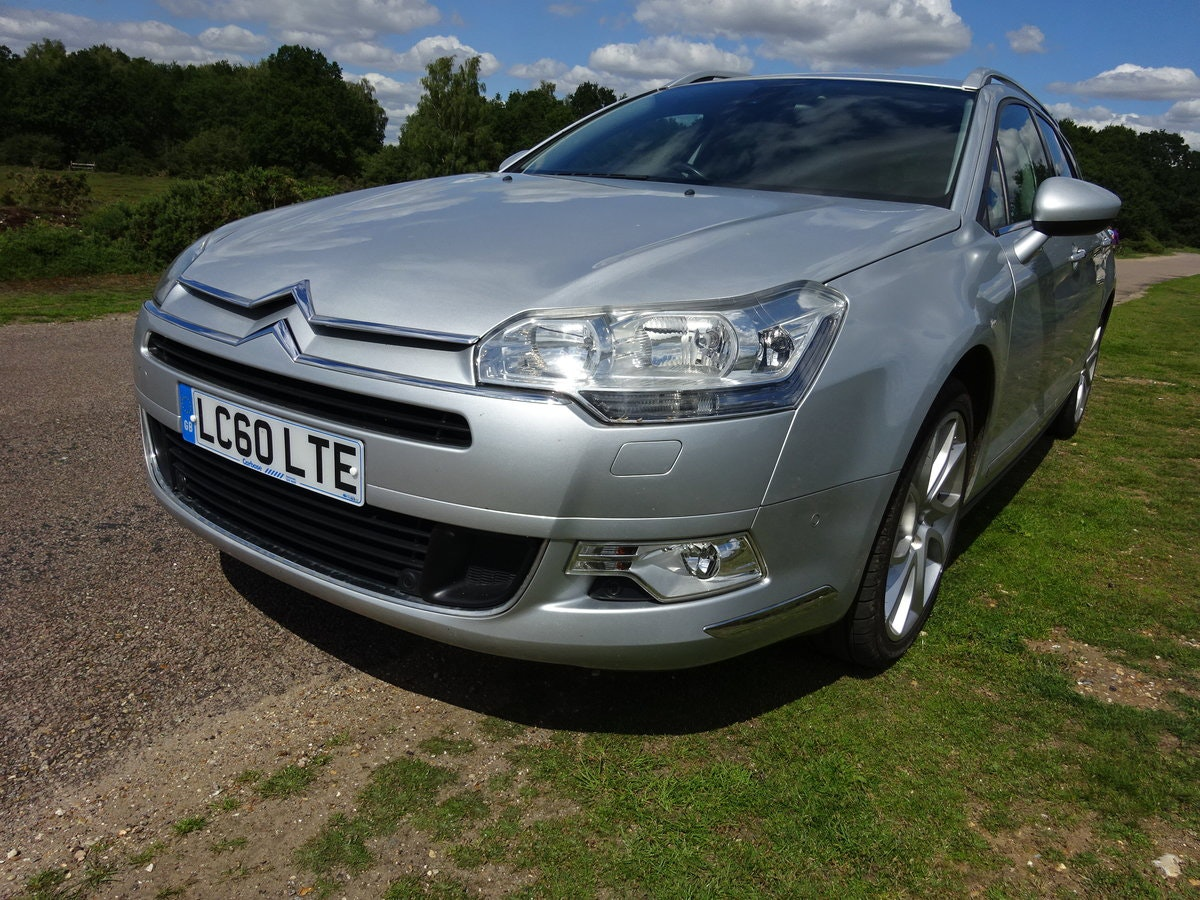 2010 CITROEN C5 2.0HDi ( 160bhp ) EXCLUSIVE, HALF LEATHER, 6 SPD SOLD (picture 1 of 6)